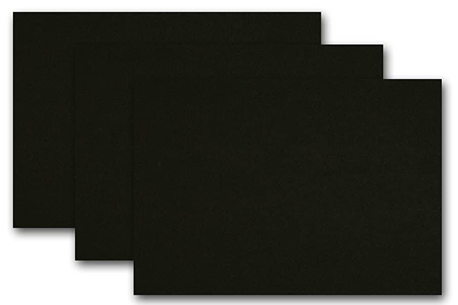 Premium Colored Blank 4x6 Card Stock (50 Pack, Black Licorice)