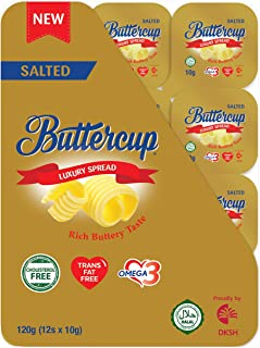 Buttercup Buttercup Lux Spread Portion (Salted) - Chilled, 12 Count