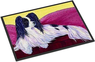 """Caroline's Treasures SS8416MAT Papillon Indoor Outdoor Doormat, 18"""" x 27"""", Multicolor"""