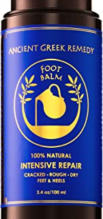 Organic Foot Cream, Dry Feet Moisturizer, Cracked Heel Treatment, Soft Feet Balm, Rough Foot Care Kit, Athletes Foot Lotio...
