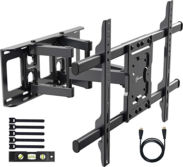 EVERVIEW TV Wall Mount Bracket Fits To Most 37 70 Inch LED LCD OLED Flat Panel TVs Tilt Full Motion Swivel Dual Articulating Arms Bring Perfect Viewing Angle Max VESA 600X400 132lbs Loading