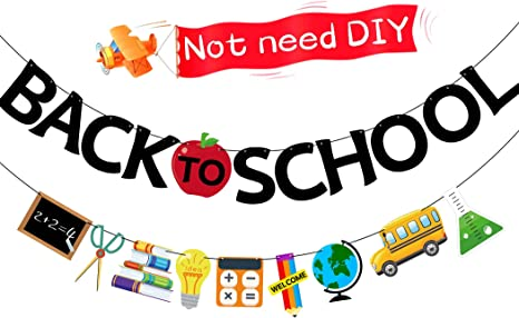 Back To School Banner Not Need DIY School Banner Back To School Decorations First Day Of School Decorations Back To School Decorations School Garland For On Classroom Home Decor