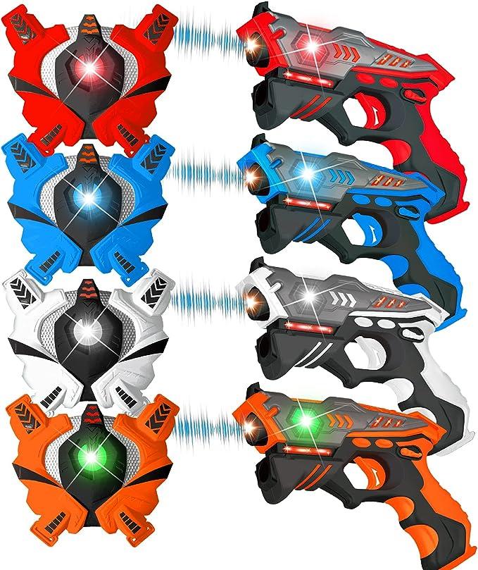 413 opinioni per VATOS Laser Tag Pistole e Gilet, Laser Battaglia Mega Set di Pacco 4 per Ragazze