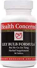 Health Concerns - Lily Bulb Formula - Bai He Gu Jin Tang Chinese Herbal Supplement - Dry Cough, Dry Throat, and Dry Nose Relief - with Lily Bulb - 90 Tablets per Bottle