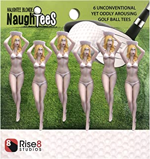 Naughtees Novelty Bikini Girl Golf Tees, Pack of 6