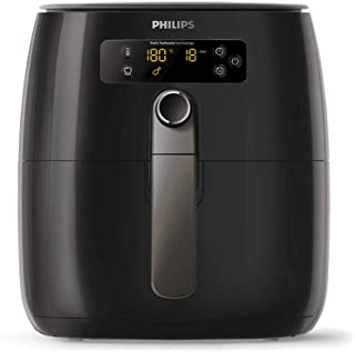 Philips Air Fryer Premium for Fry/Bake/Grill/Roast with Fat Removal & Rapid Air Technology, 0.8kg Capacity, incl. Double L...