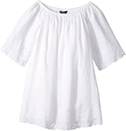 Cotton Lace Hem Dress (Big Kids)