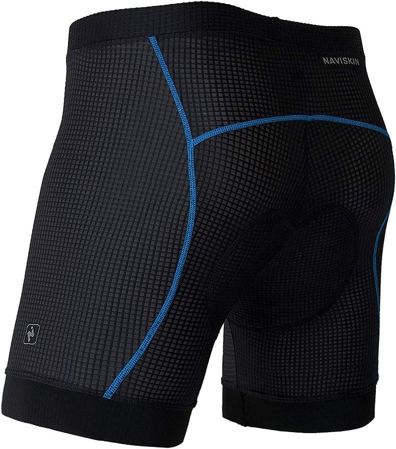Cycorld Short de VTT pour homme Avec rembourrage de lassise S/échage rapide Outdoor sport Pour homme M Noir avec sous-v/êtements. Pantalon de v/élo /élastique
