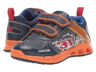 Geox Kids Jr Dakin 5 (Little Kid) (Navy/Orange) Boys Shoes