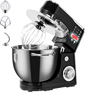 Dough Machine ,WantJoin Stand Mixer Professional dough machine , Timer Countdown with handles,Kneading Dough mixer with Timer,Digital display Professional Kitchen Electric Mixer 1000W With 5L barrel