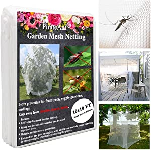 Ultra Fine Garden Netting,10x10FT Mosquito Netting, 0.04Inch Ultra-Fine Insect Netting Can Effectively Protect Plants, Vegetables, and Fruits from Disturbance.