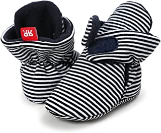 8ed30195049e Sabe Infant Boys Girls Warm Fleece Ankle Booties Soft Sole Unisex Strap  Slippers First Pram Non