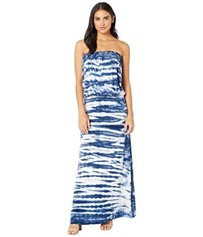 Young Fabulous & Broke Sydney Maxi Dress (Navy Ikat Wash) Women