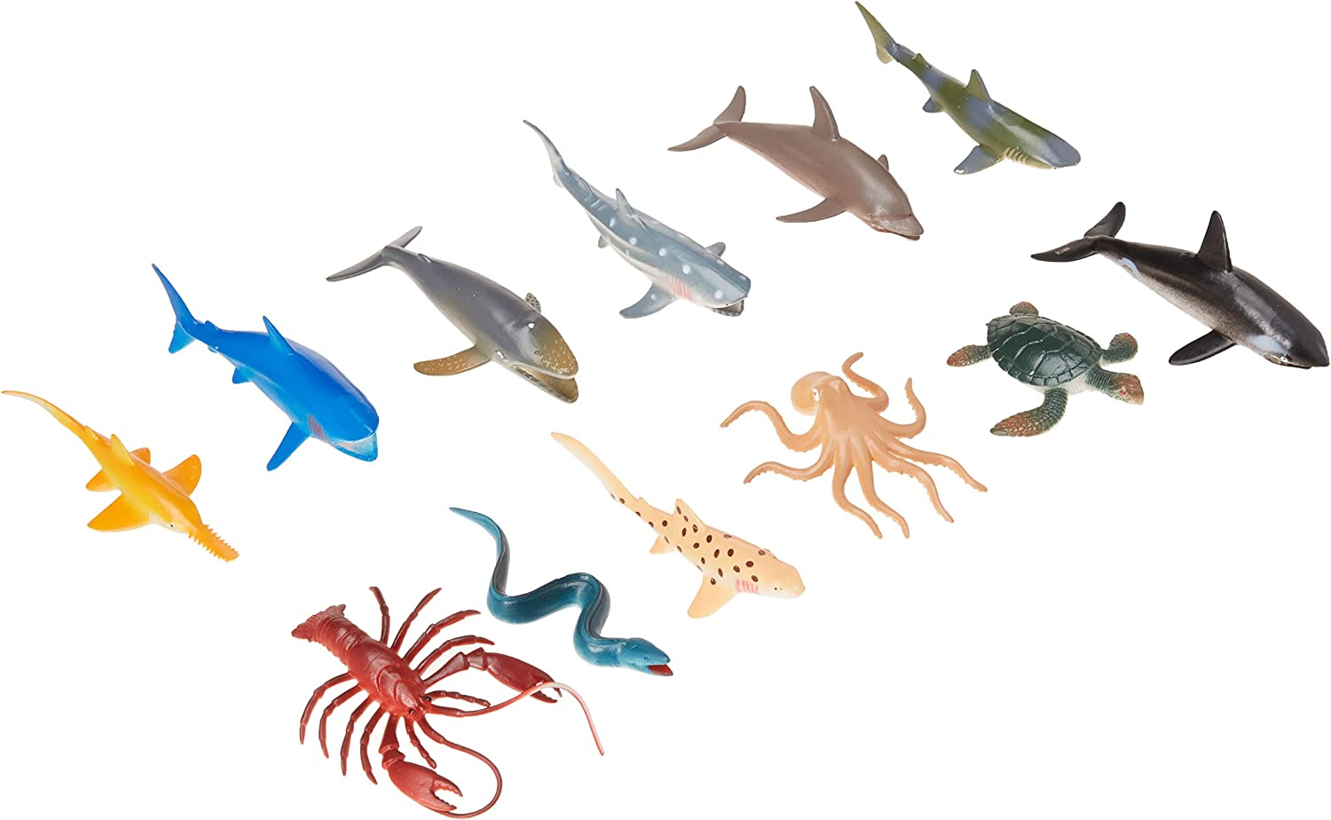 US Toy Assorted Ocean Sea Animals Action Figure (Lot of 12) B00362TS98 Moderate Kosten   | Grüne, neue Technologie