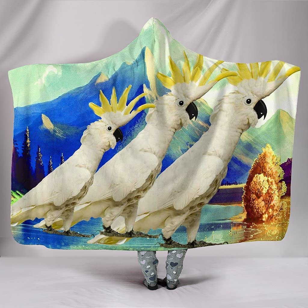 We OFFer at cheap prices Lovely Cockatoo Parrot Blanket Print Hooded low-pricing
