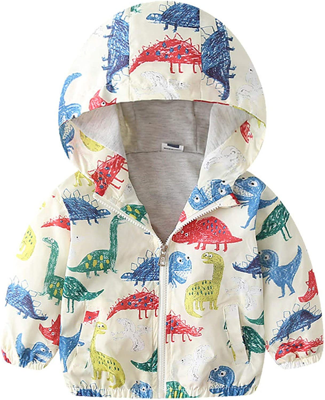 Forver Baby Boys Long Beach Mall Girls Zip Up Dinosaur High quality Prin Jacket Fleece Hoodie