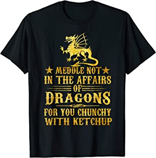 Meddle Not In The Affairs Of Dragons T-Shirt funny Ketchup T-Shirt