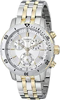 Tissot Men's T0674172203100 PRS 200 Silver Chronograph Dial Watch