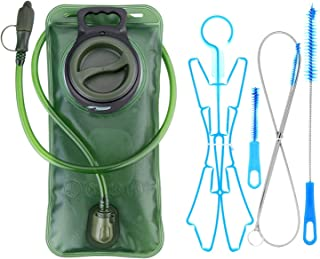 WADEO Hydration Bladder 2 Liter Leak Proof Water Reservoir 2L with Hydration Pack Cleaning Kit Tube Insulator Bite Valve Cover, BPA Free