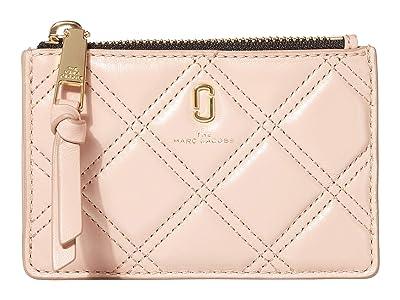 Marc Jacobs The Quilted Softshot Top Zip Multi Wallet (Nude) Wallet Handbags