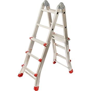 Escalera Articulada Telescópica Plegable 3+2 en 2 Tramos ...