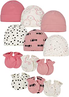 Onesies Brand Baby 12-Piece Cap and Mitten Set