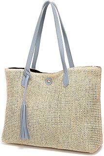 GSERA Strohhülle Frauentasche Große Kapazität Soft Beach Simple Style Designer Handgefertigte Weibliche Umhängetaschen
