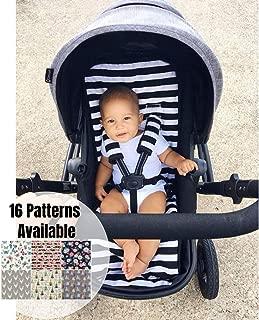 Universal Stroller Liner, Pram Liner, Black and White Stripes, Stroller Pad,Buggy Liner, Stroller Strap Covers, Infant Head Support