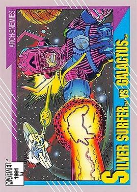 1991 Impel Marvel Universe Trading Card #94 Surfer vs. Galactus COND Officila Marvel Character Card