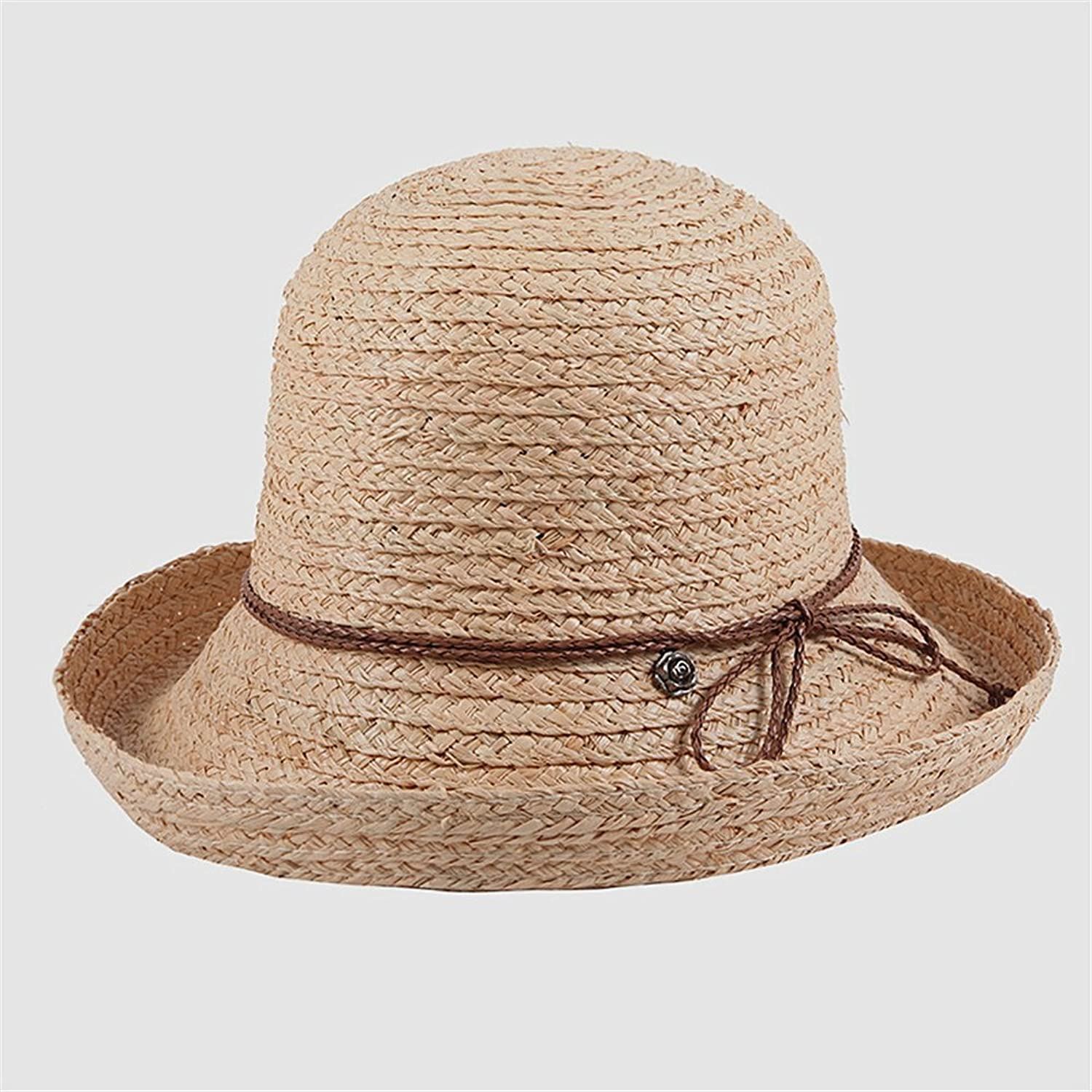 Women's Hat Spring and Summer Sun Predection Sun Hat Big Along The Hat Folding