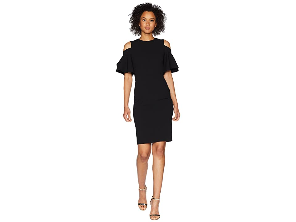 Calvin Klein Cold Shoulder Sheath Dress CD8C14LC (Black) Women