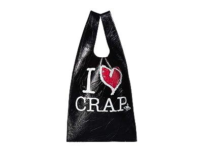 Vivienne Westwood I Love Crap Tote Bag (Black) Handbags