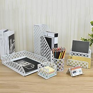 BKWJ Organisateurs de Bureau et Accessoires, Ensemble d'organisation de Bureau 6 pièces, Porte-revues, Porte-Stylo, Porte-...