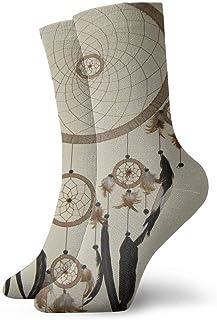 HNJZ-GS, Calcetines Deportivos Atrapasueños Divertido Personalizado Personalizado Calcetines Deportivos para Hombre Regalo Calcetín para niños