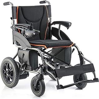 Sillas de ruedas eléctricas para adultos Silla de ruedas eléctrica plegable de la energía silla de ruedas ligera de ancianos discapacitados en las cuatro ruedas de gran alcance con silla de ruedas int