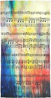 XiangHeFu Vintage Music Note Musical Wrap Foulard Scialle Donna Sciarpa di seta Silenziatore Chiffon