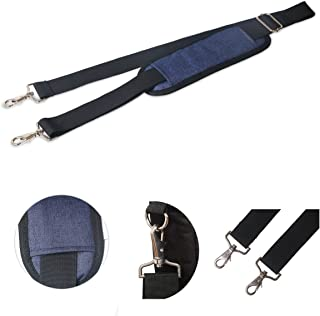 JAKAGO 150cm Universal Shoulder Strap Replacement Adjustable Crossbody Bag Strap with Metal Swivel Hooks and Non-Slip Pad Strap for Laptop Briefcase Violin Bag Camera Travel Bag Duffel Bag (Blue)
