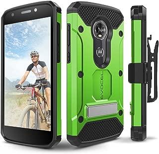 Moto E5 Plus / E5 Supra Case, Evocel [Explorer Series Pro] Premium Full Body Case with Glass Screen Protector, Belt Clip, Metal Kickstand for Motorola Moto E5 Supra/Moto E5 Plus, Green