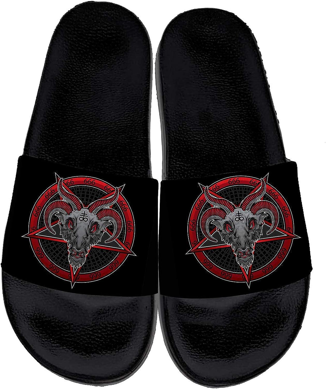 Baphomet Fresno Mall Pentagram 666 Sandals for Womens New mail order Mens Print Sat Evil 3D