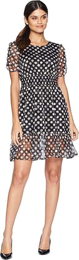 Dotty Ruffle Hem Dress