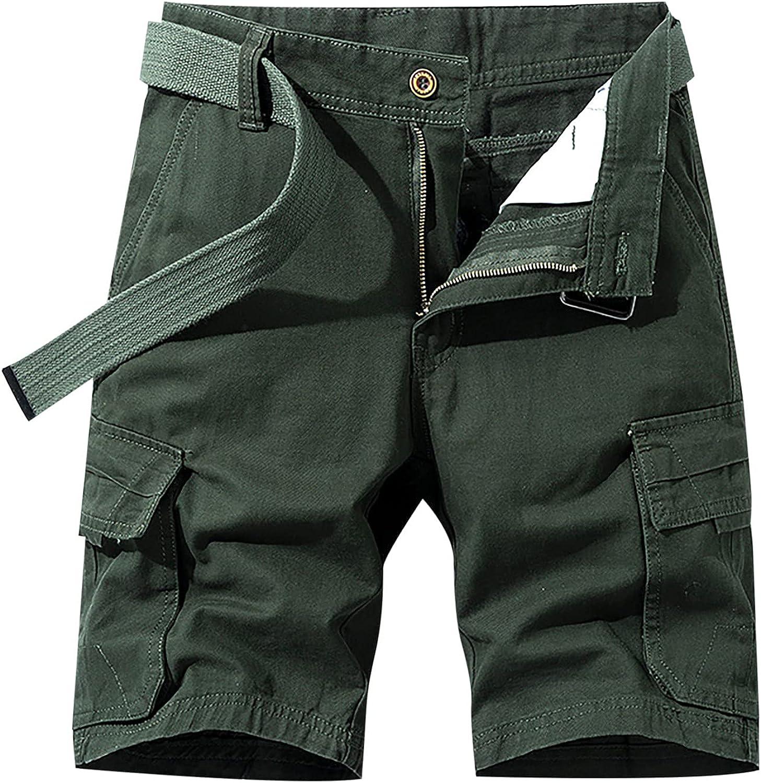 miqiqism Mens Jogger Pants Sweatpants Skinny Elastic Zip Pockets Sports Trousers Sport Short Pants