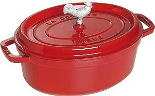 Staub 1123106 Cast Iron Coq au Vin Cocotte, 5.75-quart, Cherry