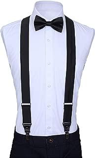 Mio Marino's Silk Suspenders for Men - Y-back Suspenders and Bow Tie Set