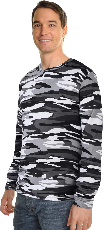 Swan Men's Fleece-Lined Long-Sleeve Thermal Tops (3-Pack), T8915_I-CAMO_S