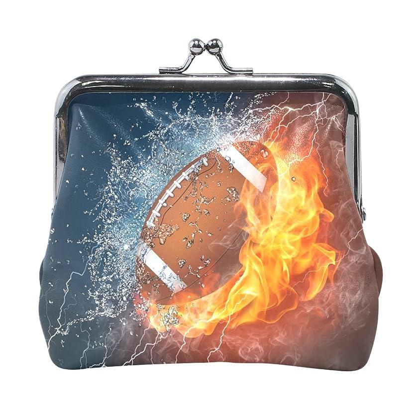 インストール溶岩入手しますAOMOKI 財布 小銭入れ ガマ口 コインケース レディース メンズ レザー フットボール