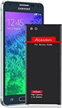 Acevan Galaxy Alpha Battery G850 2000mAh Li-ion Battery Replacement for Samsung Galaxy Alpha, SM - G850A (AT&T), G850T (T-Mobile), G850F, G850H, G850M, G850W, G8508S, G8509V [3 Year Warranty]