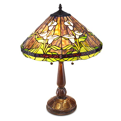 """River of Goods 21""""H Mercury Glass 3 Lily  Uplight Accent Lamp Choose your Color"""