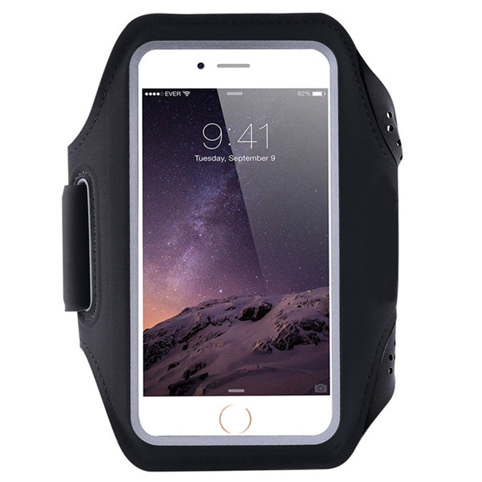 Black Sports Armband Phone Case Cover Gym Running For Oppo Reno A