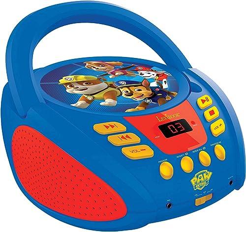 Lexibook Paw Patrol La Pat Patrouille Lecteur CD portable pour Enfants, Prise micro, Entrée line-in, Pile ou Secteur,...