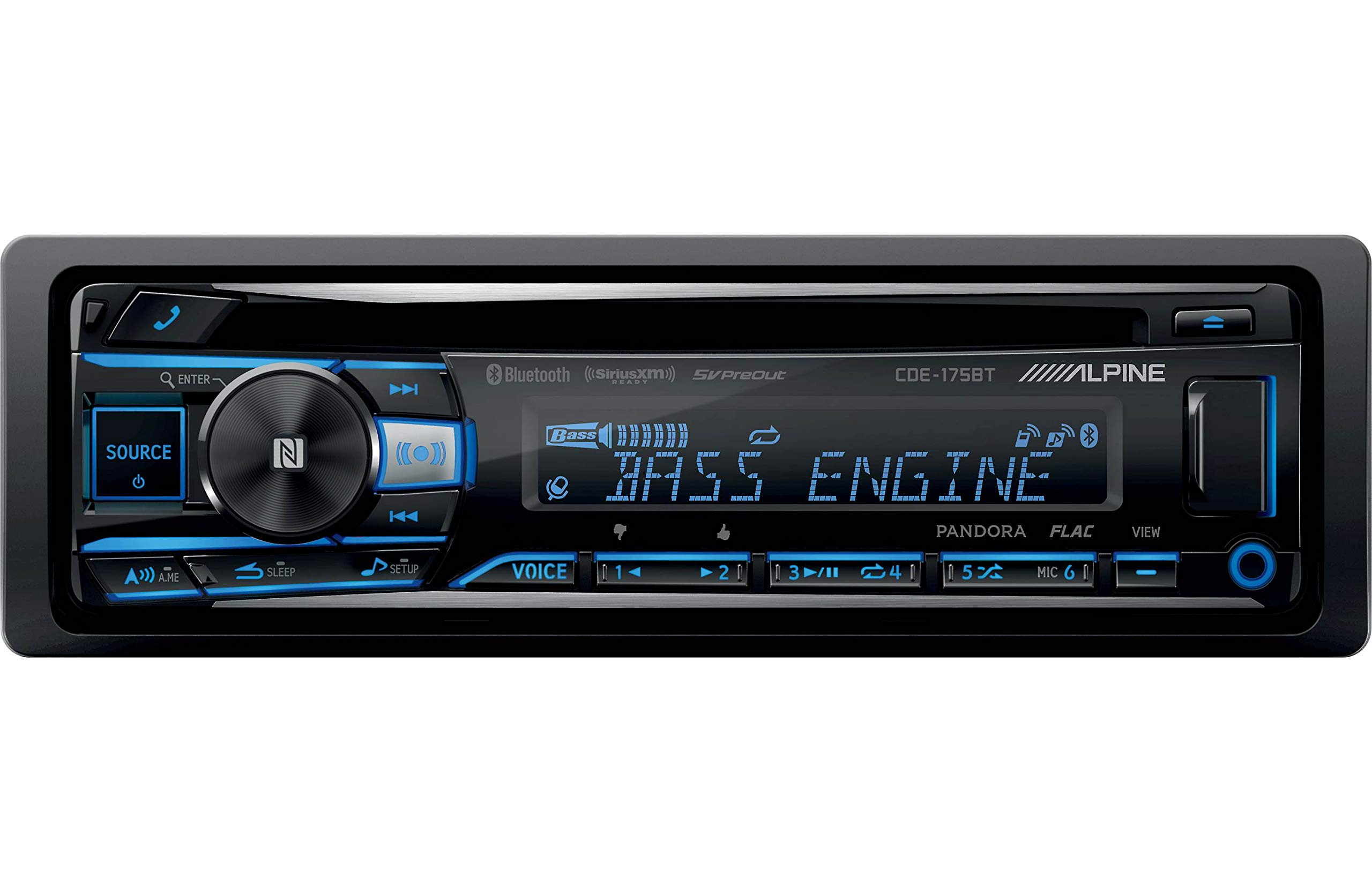 Alpine CDE 175BT Single DIN Bluetooth Auxiliary